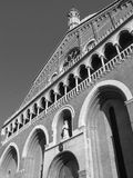 Patriarchal Basilica in St. Mark's Square in Venice. Detail. S. Black and white Stock Photography