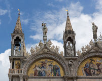 Patriarchal Cathedral Basilica of Saint Mark is cathedral church Royalty Free Stock Image