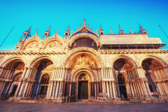 The Patriarchal Cathedral Basilica of Saint Mark at the Piazza Stock Image