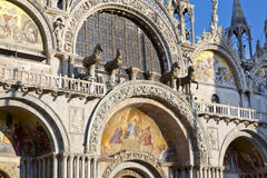The Patriarchal Cathedral Basilica of Saint Mark at the Piazza S Royalty Free Stock Photo