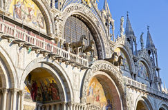 The Patriarchal Cathedral Basilica of Saint Mark at the Piazza S Royalty Free Stock Image