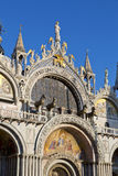 The Patriarchal Cathedral Basilica of Saint Mark at the Piazza S Royalty Free Stock Images