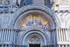 The Patriarchal Cathedral Basilica of Saint Mark at the Piazza Stock Photo