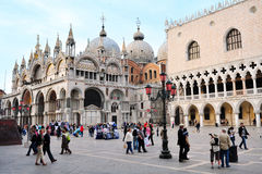 Patriarchal Cathedral Basilica of Saint Mark Venice Italy Stock Image