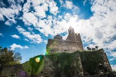 Patriarchal Cathedral of the Holy Ascension of God in Tsarevets. Tsarevets is a medieval stronghold located on a hill with the same name in Veliko Tarnovo in royalty free stock photos