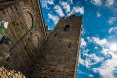 Patriarchal Cathedral of the Holy Ascension of God in Tsarevets. Tsarevets is a medieval stronghold located on a hill with the same name in Veliko Tarnovo in stock images