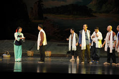 The patriarchal society- Jiangxi opera a steelyard Stock Images