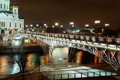 patriarchalna Moscow bridżowa miła noc Zdjęcia Stock