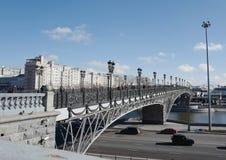 Patriarchalny most, budujący w 2004 moscow Rosja fotografia stock