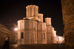 Patriarchate hill. In bucharest romania at night Stock Photo