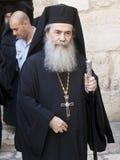 Patriarche orthodoxe grec de Jérusalem Images libres de droits