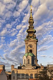 St. Michael's Cathedral Bell Tower With The Patriarchy Dome - Belgrade - Serbia Royalty Free Stock Photos