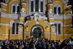 Patriark Filaret. Påsk 2014 i Ukraina 22.04.2014 //St Volod Arkivbild