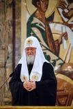 Patriark Kirill av Moskva och all Ryssland på den 7th kyrkan Arkivbild