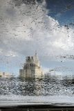Patriarshiye ponds in Moscow. Abstract water reflection. Royalty Free Stock Photography