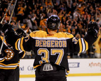 Patrice Bergeron, Boston Bruins Στοκ Εικόνες