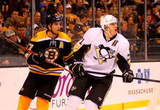 Patrice Bergeron and Evgeni Malkin NHL Hockey Royalty Free Stock Photo