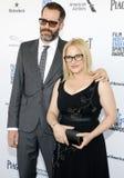 Patricia Arquette e Eric White immagine stock