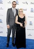 Patricia Arquette e Eric White immagini stock