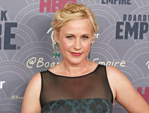 Patricia Arquette. Television and film actress Patricia Arquette, who plays the role of Sally Wheet, arrives on the red carpet for the New York City premiere of stock images