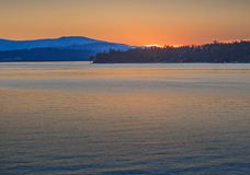 Patricia Bay sunset. Spectacular sunset at the Patricia Bay in Sidney, Vancouver Island, British Columbia royalty free stock images
