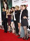Patricia Clarkson, Emma Stone, Penn Badgley e Aly Michalka immagine stock
