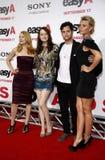 Patricia Clarkson, Emma Stone, Penn Badgley e Aly Michalka fotografia stock