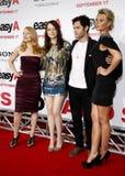 Patricia Clarkson, Emma Stone, Penn Badgley e Aly Michalka fotografia stock libera da diritti