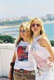 Patricia e Rosanna Arquette fotografia stock libera da diritti
