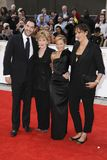 Patricia Hodge,Miranda Hart,Sarah Hadland,Tom Ellis. Tom Ellis, Patricia Hodge, Sarah Hadland and Miranda Hart arrives for the BAFTA TV Awards at the Grosvenor royalty free stock photography