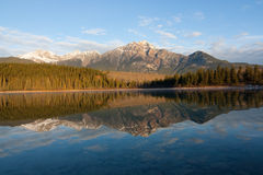 Patricia Lake. In Jasper National Park royalty free stock image