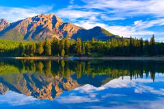 Patricia Lake. Early morning on Patricia Lake, Jasper National Park royalty free stock image