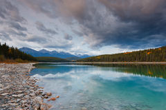 Patricia Lake, Canada. Patricia Lake, Jasper National Park, Alberta, Canada stock photos