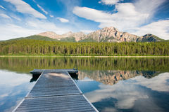 Patricia Lake, Canada. Patricia Lake, Jasper national park, Canada royalty free stock images