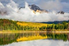 Patricia Lake dans Rocky Mountains Photo stock