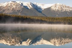 Patricia Lake in Jasper National Park. Alberta, Canada royalty free stock image