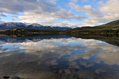 Patricia Lake in the morning Stock Image