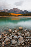 Patricia Lake and Pyramid Mountain Stock Photo