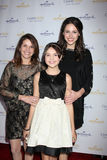 Patricia Riley, Baillee Madison, Kaitlin Riley arrives at  the Hallmark Channel TCA Party Winter 2012 Royalty Free Stock Photo