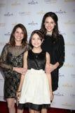 Patricia Riley, Baillee Madison, Kaitlin Riley komt bij de Winter van 2012 van de Partij van het TCL van het Kanaal van de Stempel Royalty-vrije Stock Foto