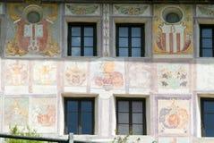 Patrician house at the village of Lottigna Royalty Free Stock Photo