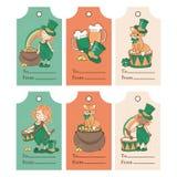 """PATRICK """"S MARQUE l'ensemble d'illustration de vecteur du jour de St Patrick illustration libre de droits"""