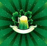 Patrick background with beer Stock Images