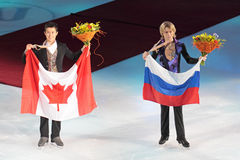 Patrick Chan and Artur Gachinski Stock Image