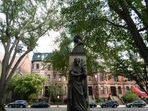 Patrick Collins Statue, mail d'avenue de Commonwealth, Boston, le Massachusetts, Etats-Unis photo stock