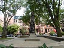 Patrick Collins Statue, mail d'avenue de Commonwealth, Boston, le Massachusetts, Etats-Unis photo libre de droits