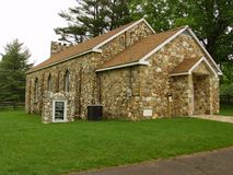 Bluemont Presbyterian Church -Side View. Patrick County, Virginia USA – August 27th: Bluemont Presbyterian Church is a historic Presbyterian church nestled in Royalty Free Stock Images
