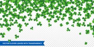 Patrick dagbakgrund med fyrklövermodellbakgrund Lycklig fower-sprucken ut grön bakgrund royaltyfri illustrationer