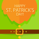 Patrick Day background with leprechaun costume Royalty Free Stock Photo
