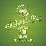 Patrick day beer design background Royalty Free Stock Image